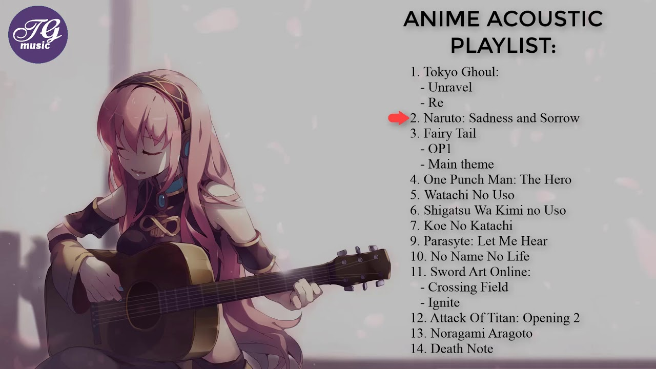Best of Anime Acoustic Guitar Cover - Anime guitar #01